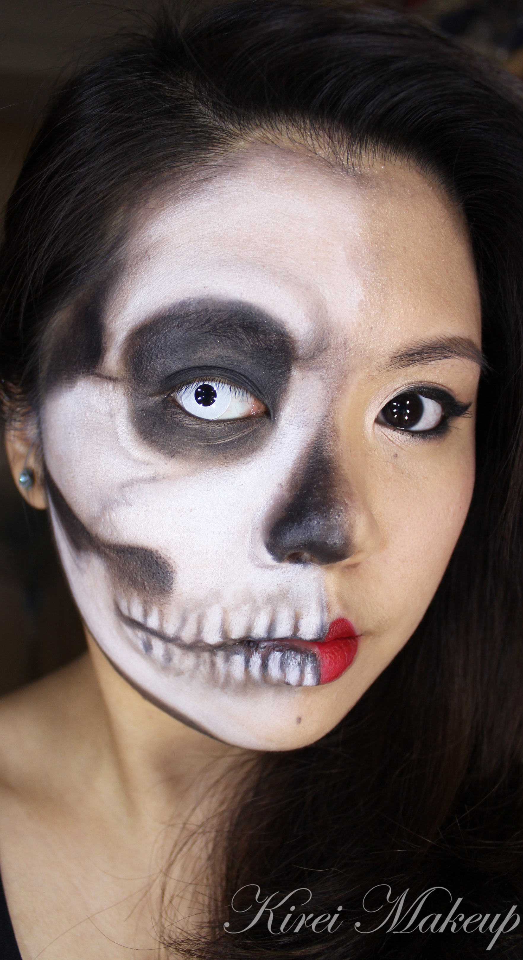Face Makeup Tutorial For Beginners: Half And Half