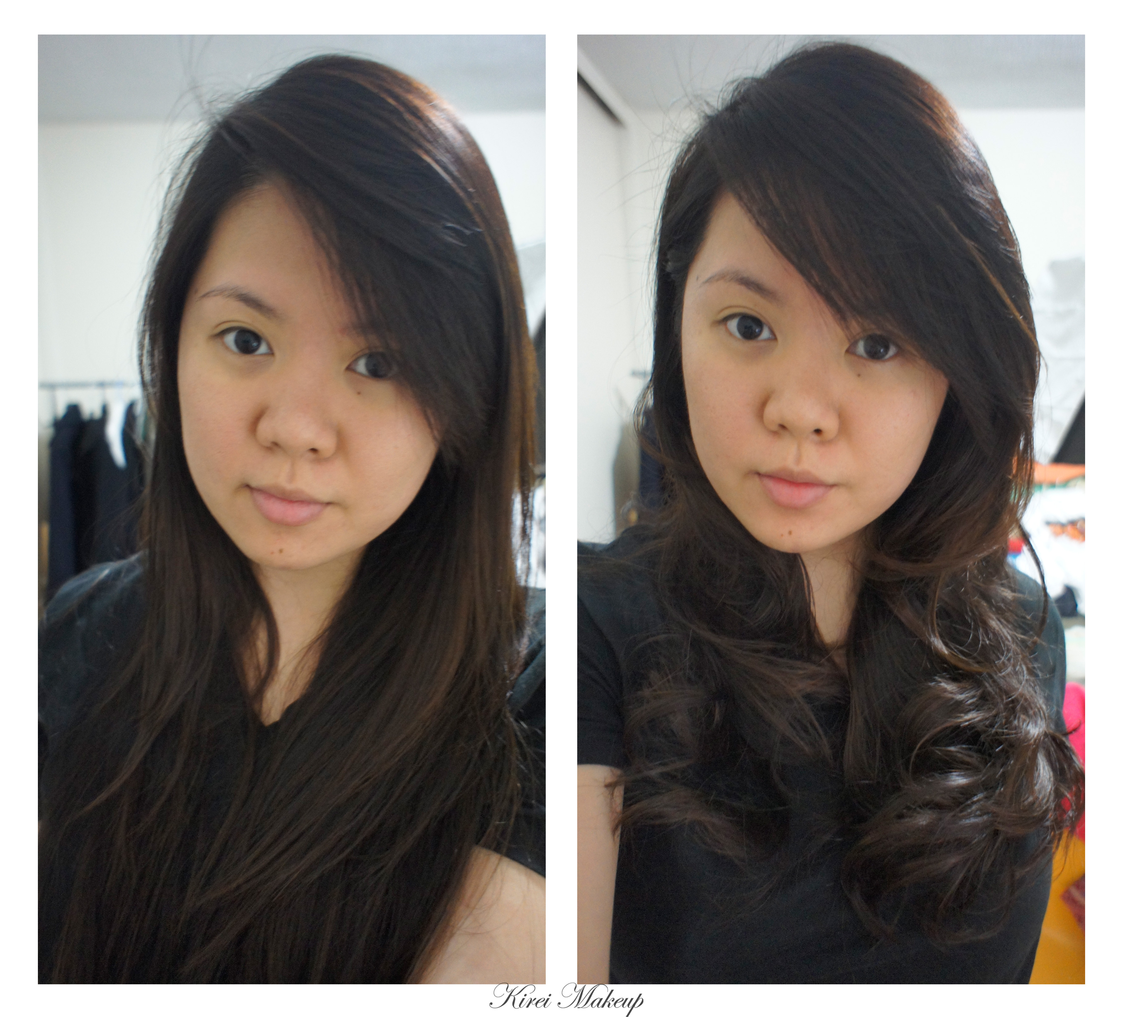 Curling asian hair