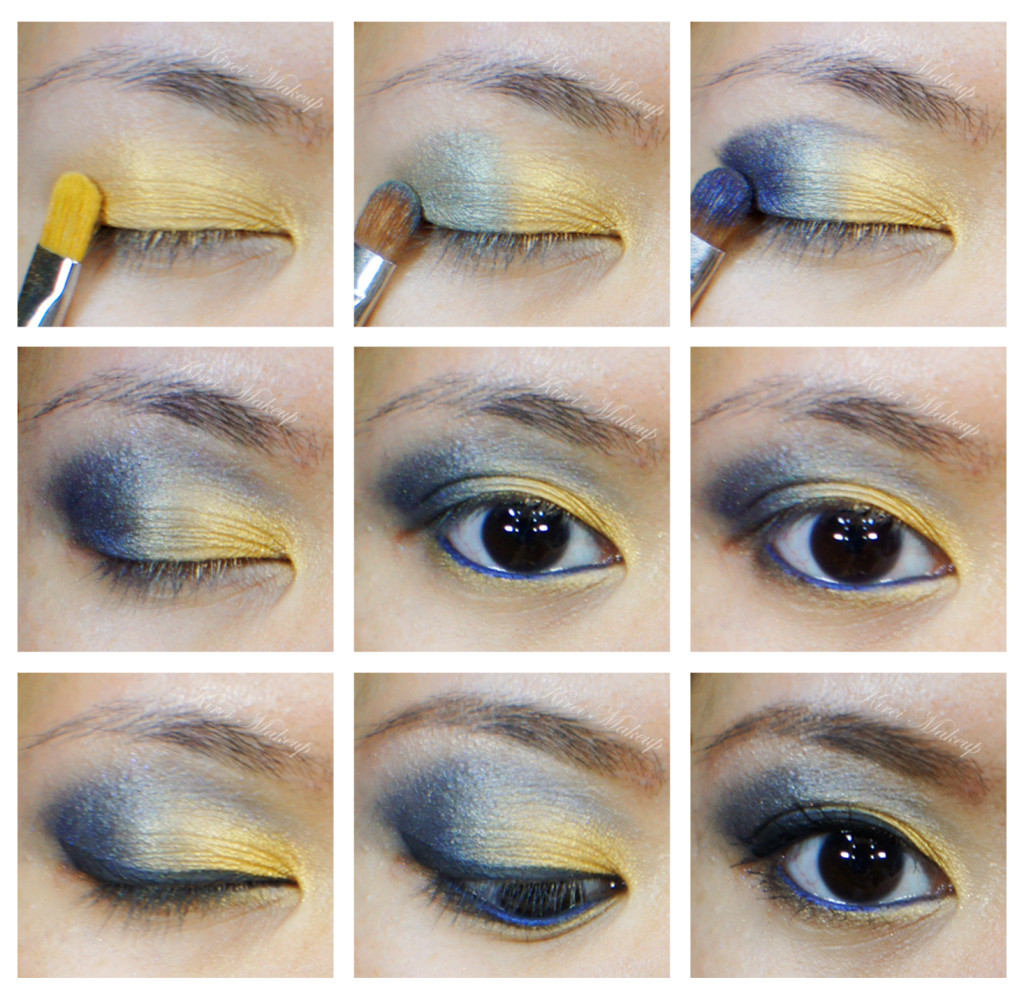 blue and gold eyeshadow