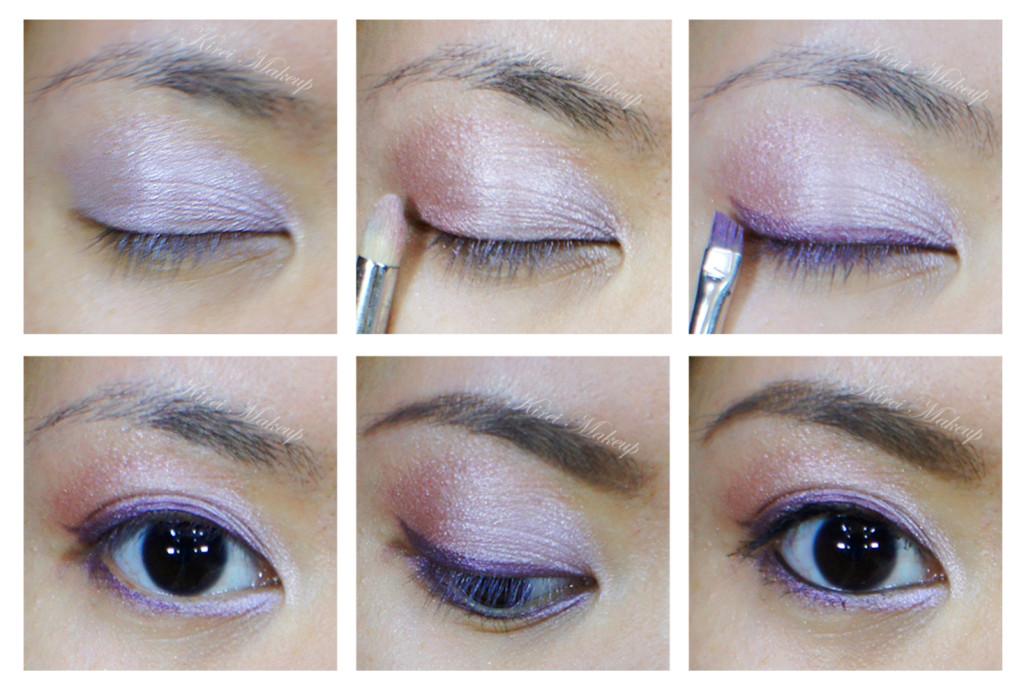 Lilac makeup