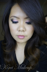 bridal pink smoky eyes
