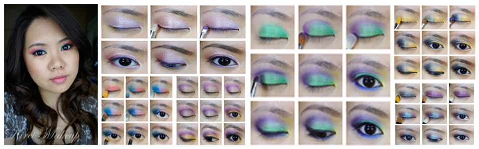 colorful makeup asians