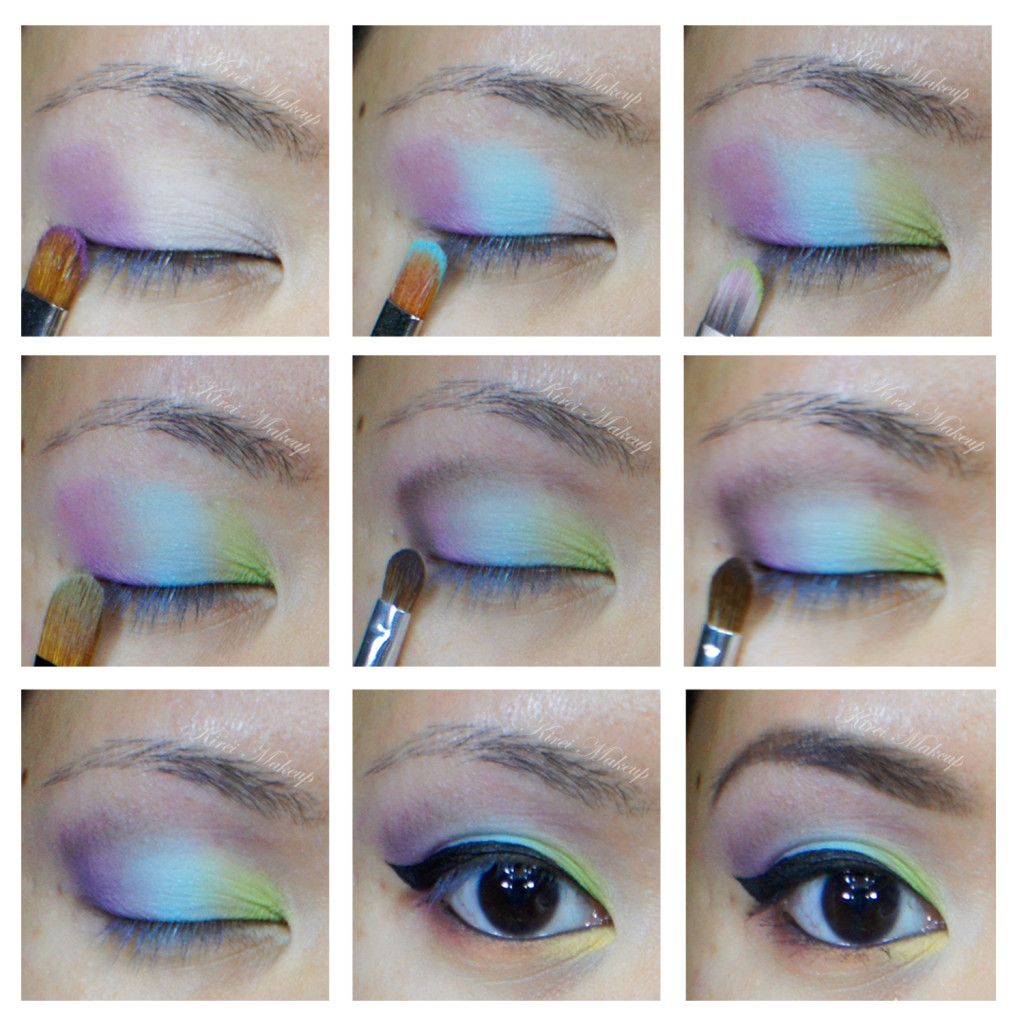pastel rainbow makeup
