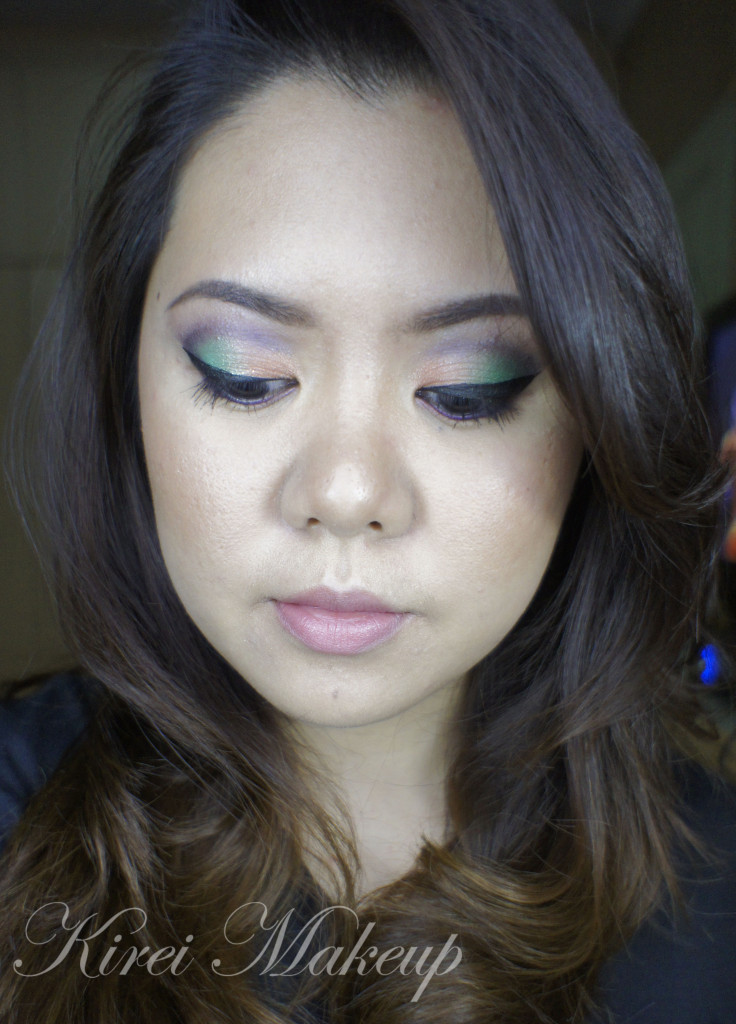 orange and green makeup