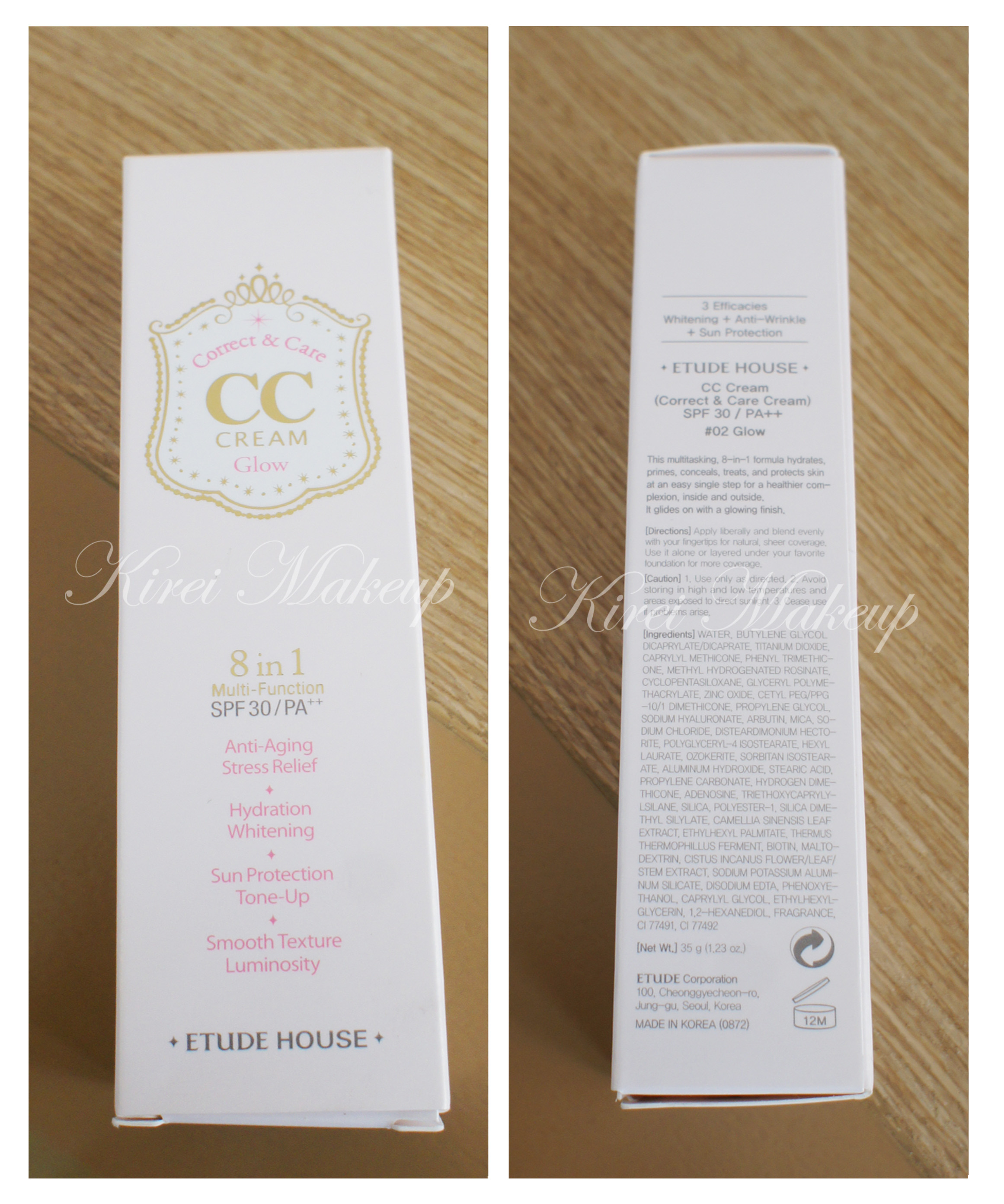 Etude House Cc Bb Creams Review Kirei Makeup Fair N Pink Cream Foundation Moisturizer Whitening Uv Protector Korean