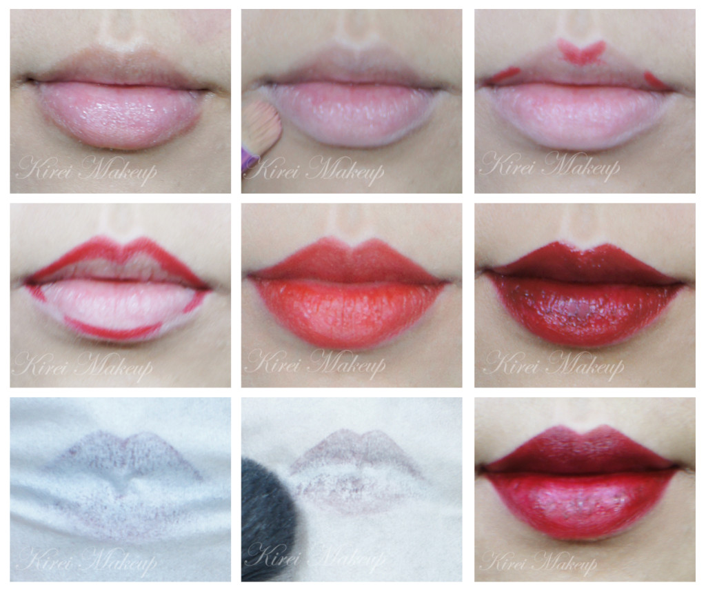 how to apply red lips