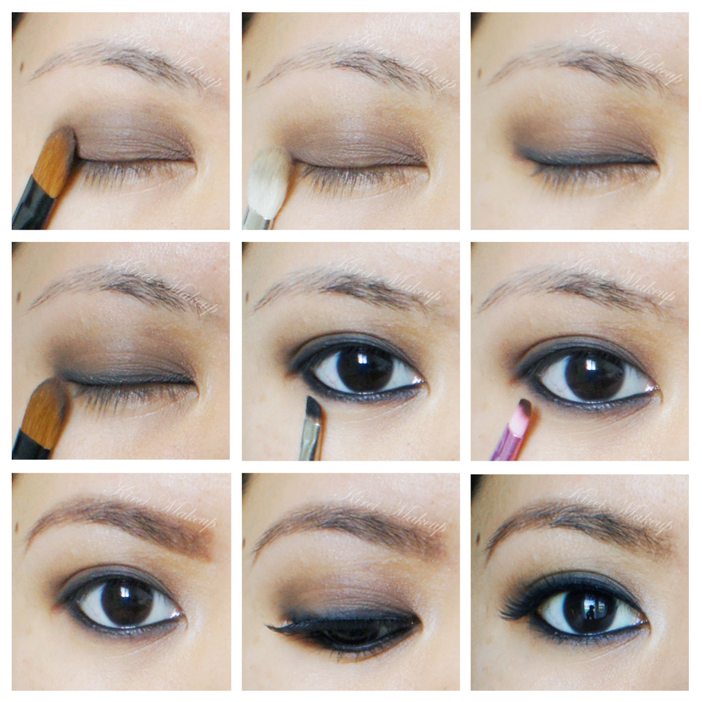 Smoky eyes using urban decay naked basics