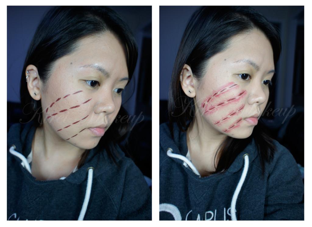 stitched face paint