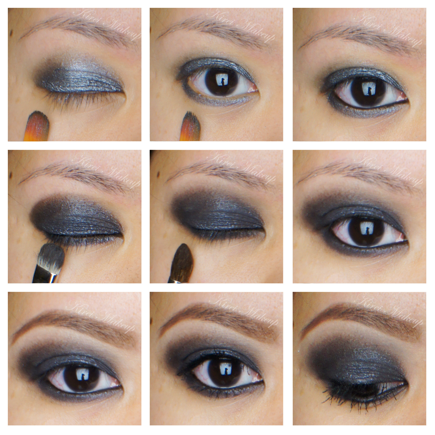 Black Smokey Eye Tutorial Kirei Makeup