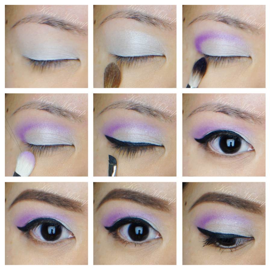 Wearable purple makeup