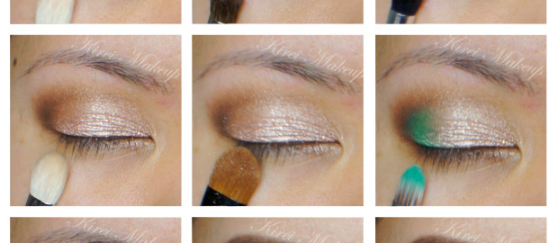 neutral smoky eyes with color
