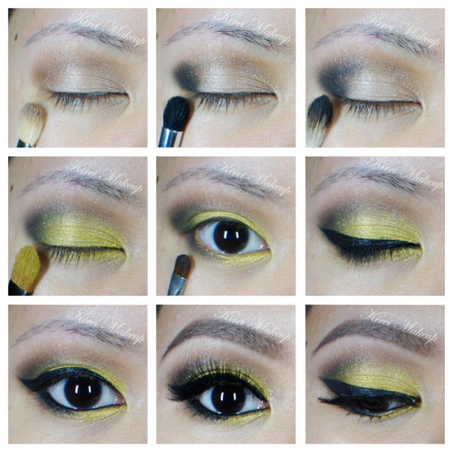 bright green makeup tutorial
