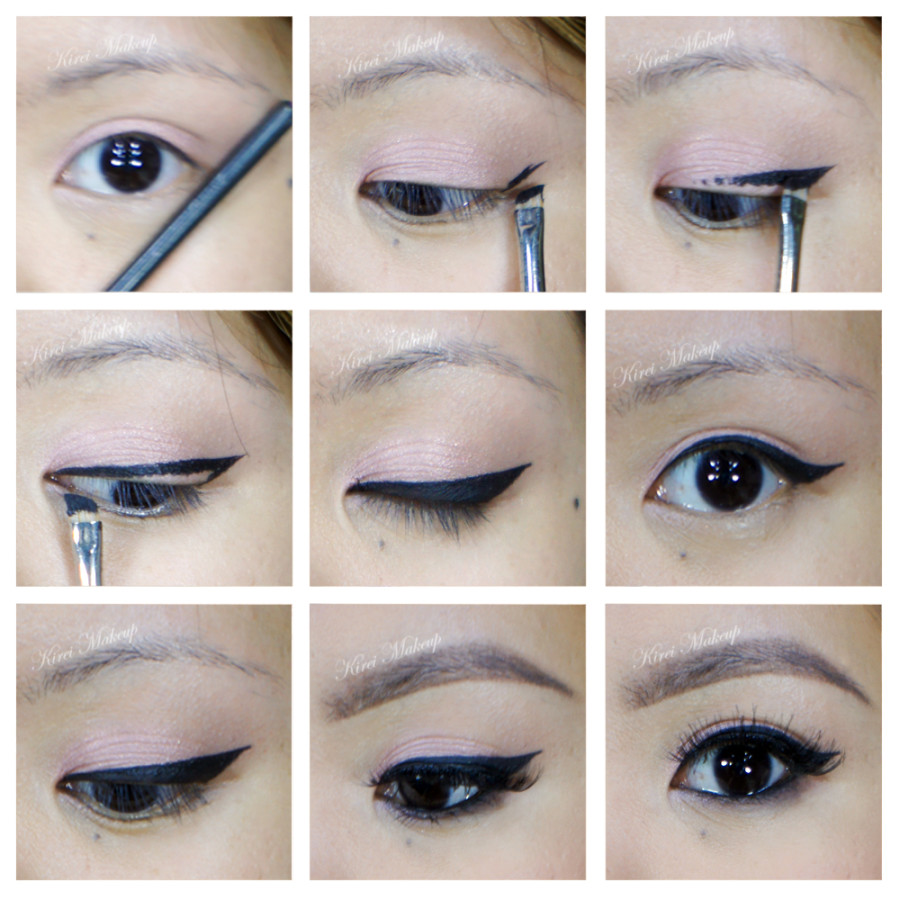 how to create winged eyeliner