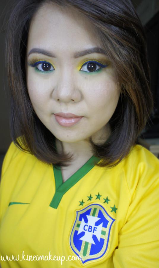 brazil inspired makeup