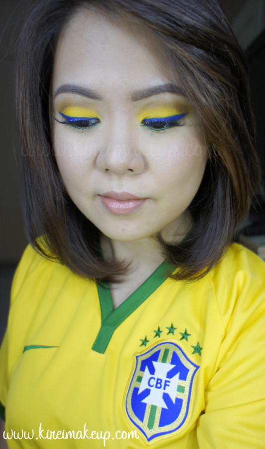 world cup inspired makeup brazil
