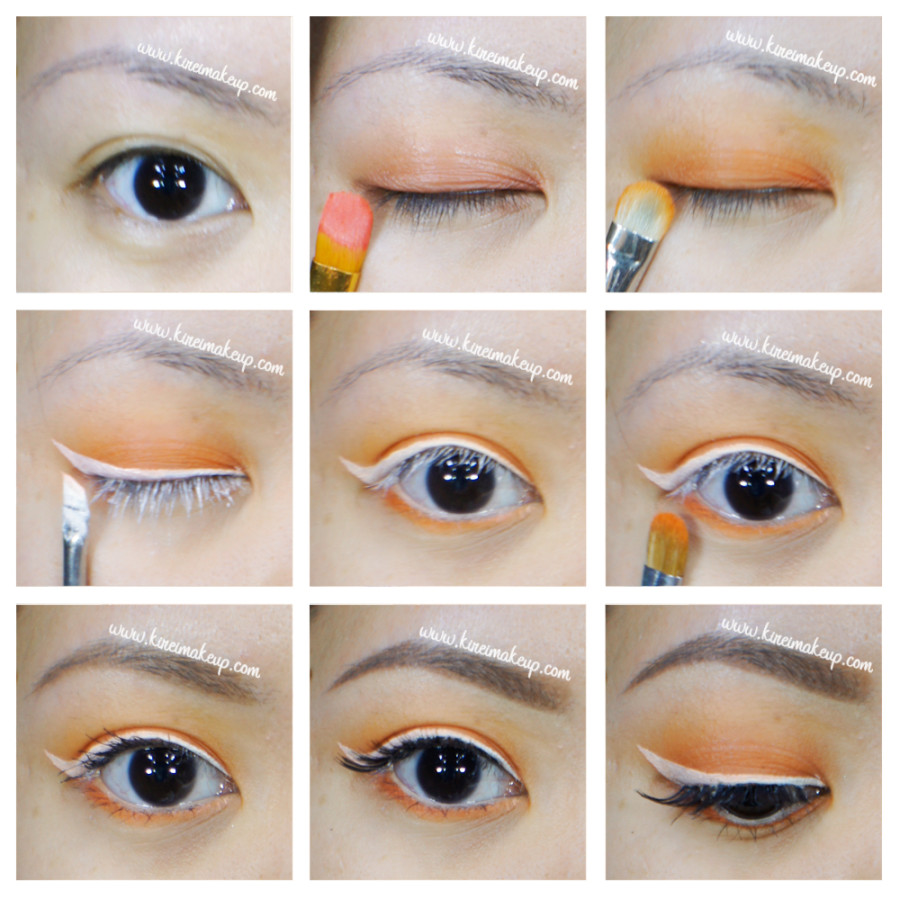 orange and white makeup