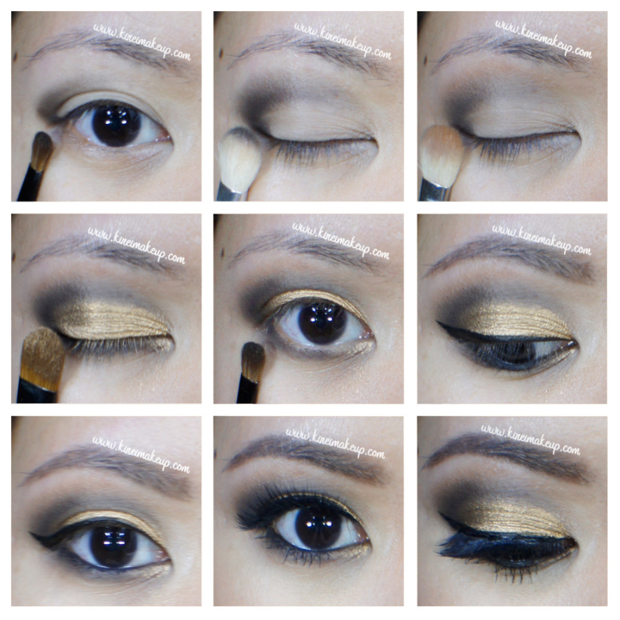 bronze smoky eyes