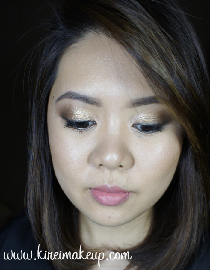 golden bronze smoky eyes
