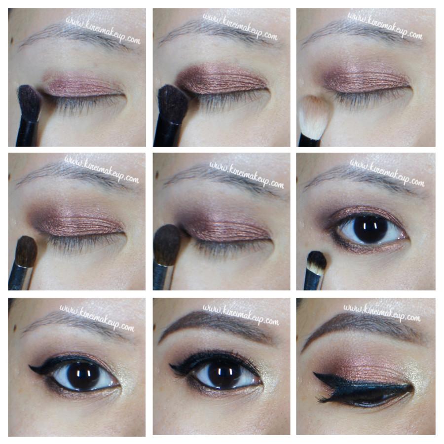 Copper smoky eyes