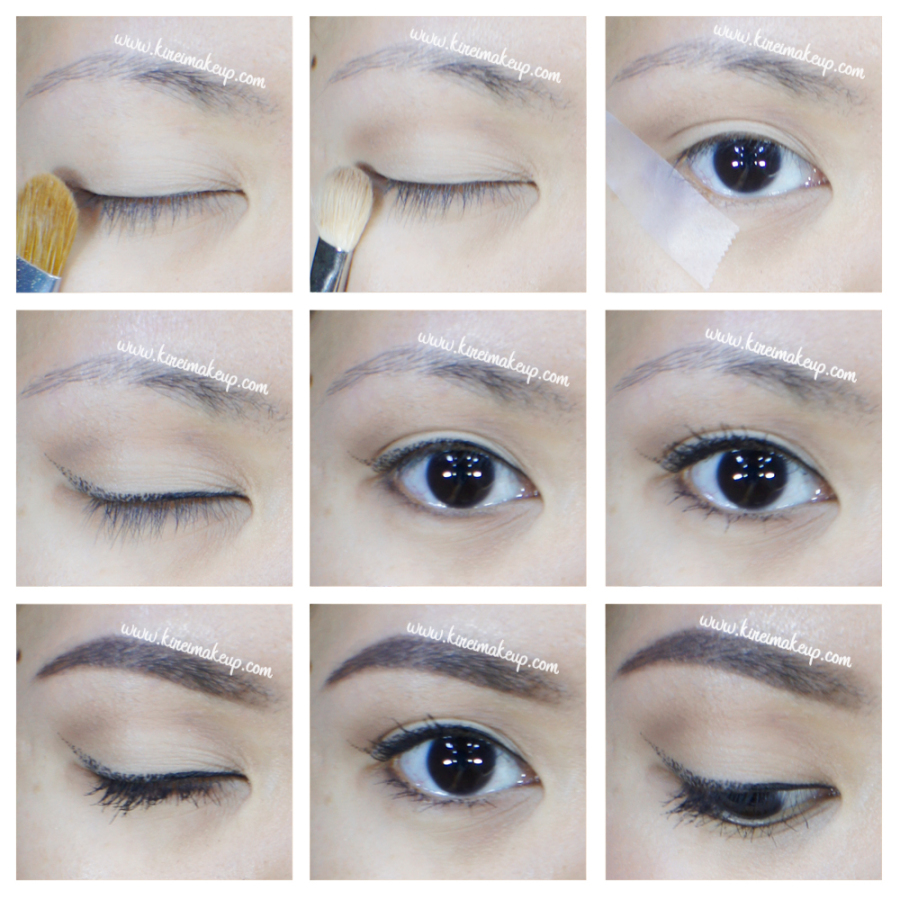 how-to dotted winged liner