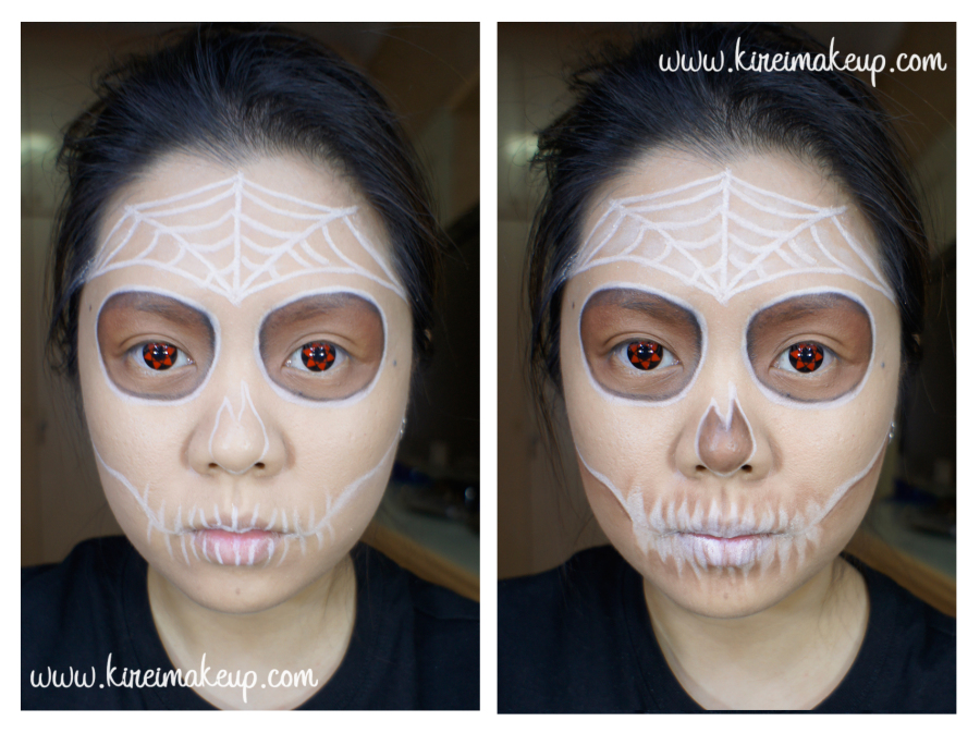 white sugar skull makeup