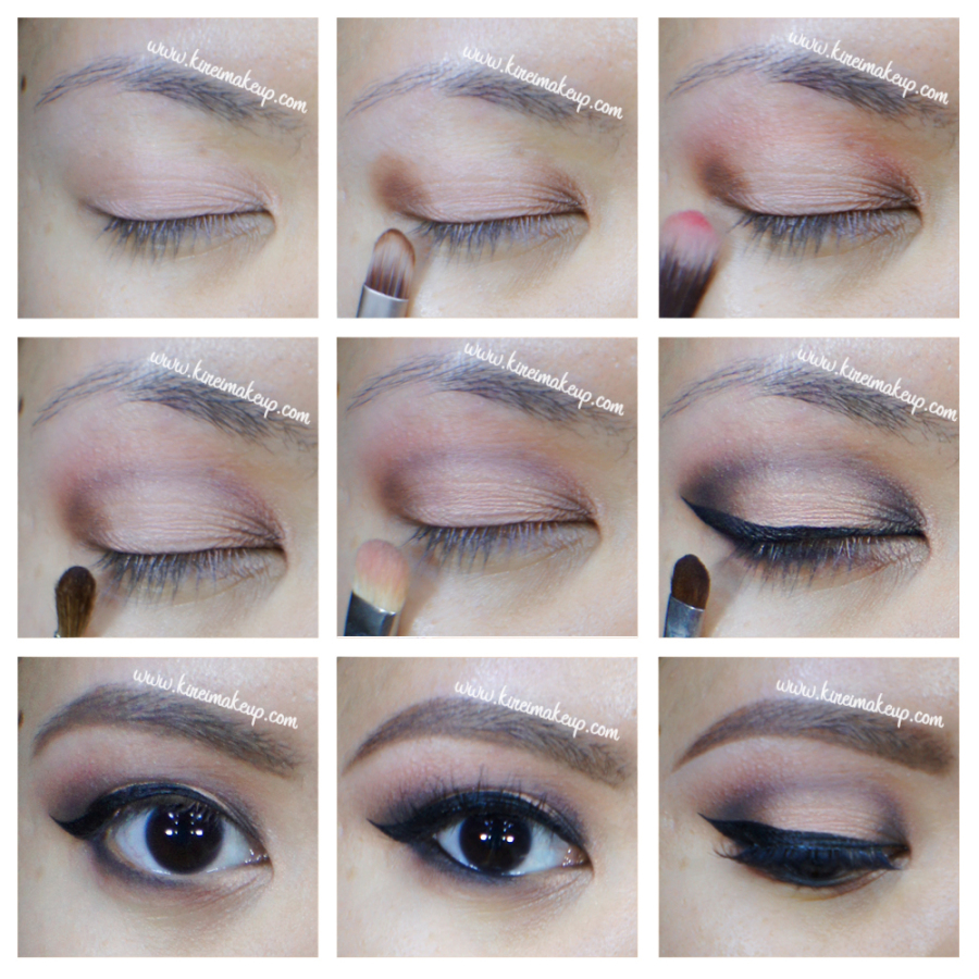 peach smoky eyes