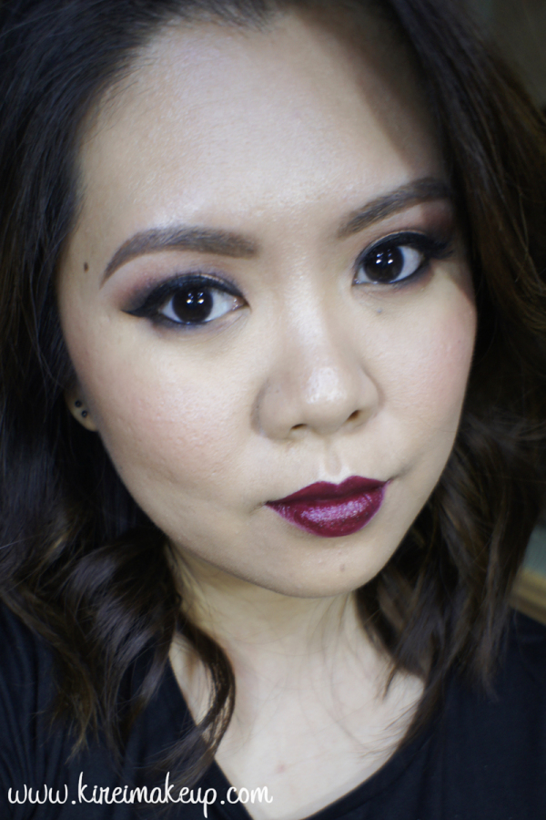 Revlon Black Cherry makeup tutorial