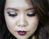 Fall Makeup dark lips