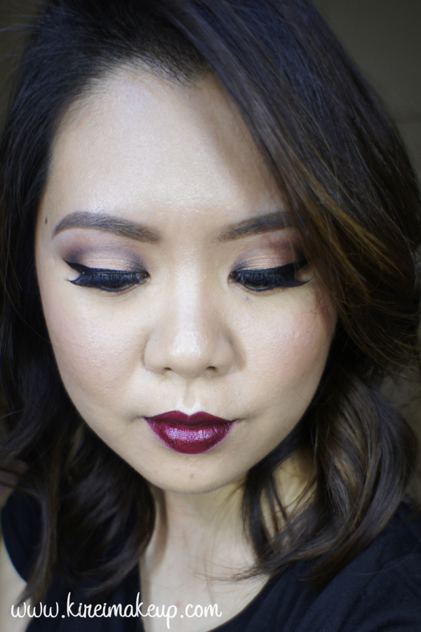 Fall Makeup dark lips
