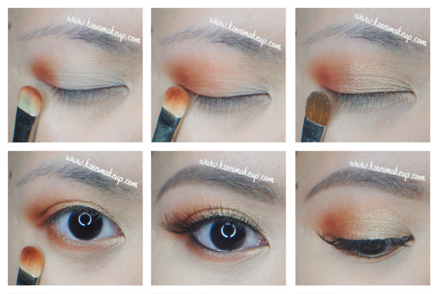 gold and orange makeup tutorial