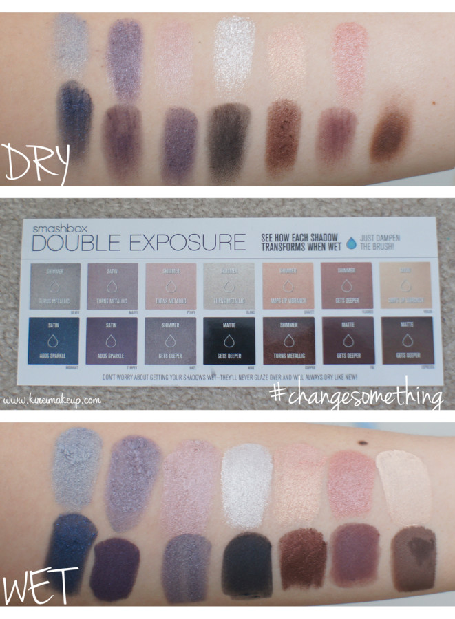 smashbox double exposure swatches