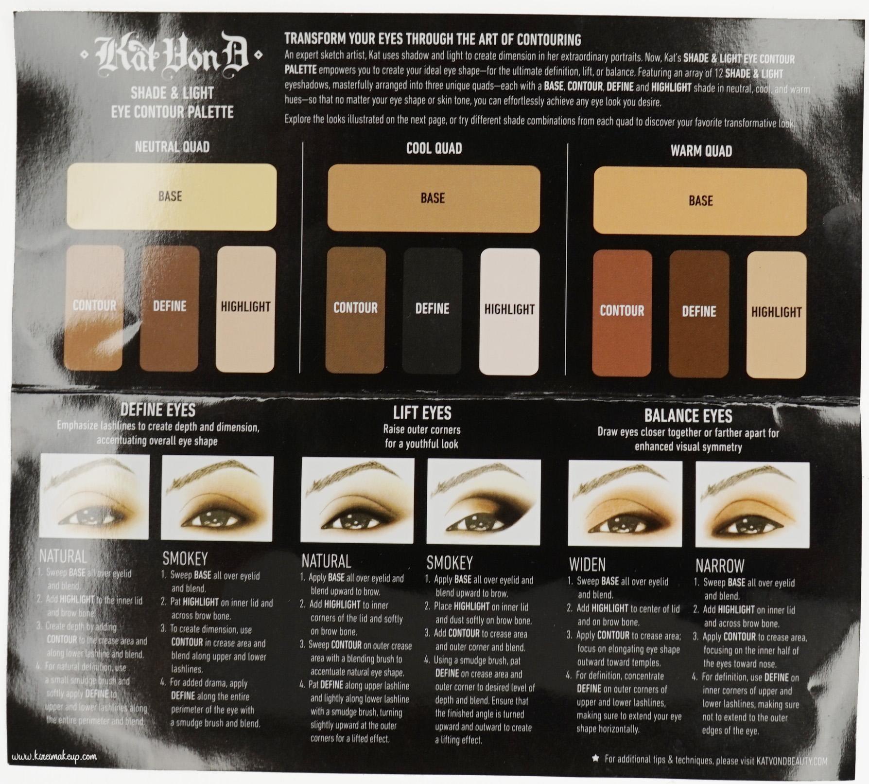 Kvd Shade Amp Light Eye Contour Palette Review Kirei Makeup