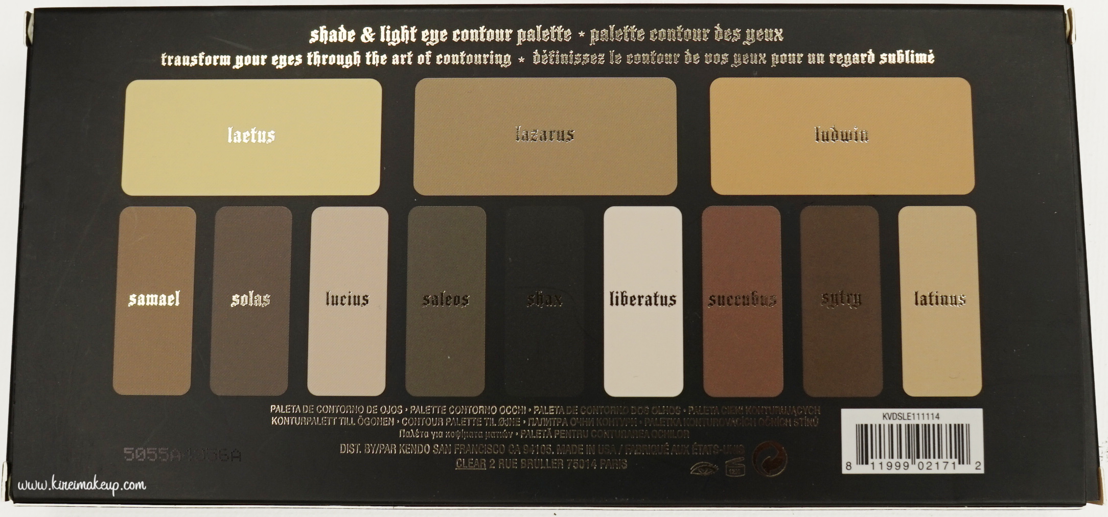 Kvd Shade Amp Light Eye Contour Palette Review Kirei Makeup