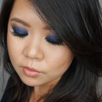 navy blue smoky eyes