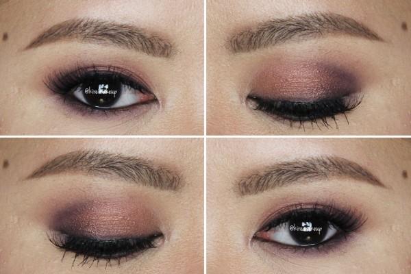 smoky plum makeup