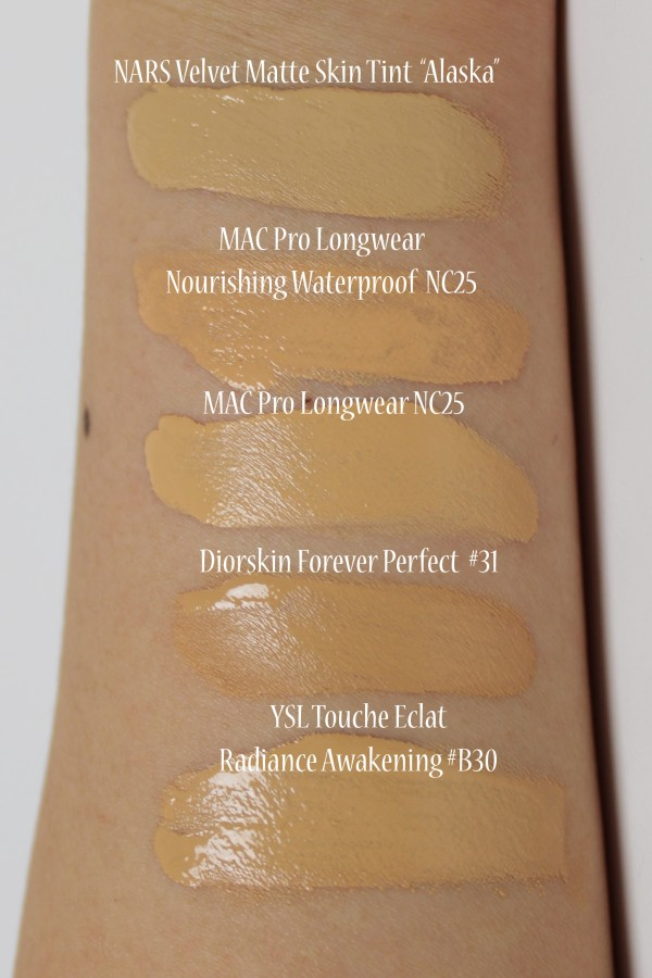 ysl radiance awakening foundation for mac nc25