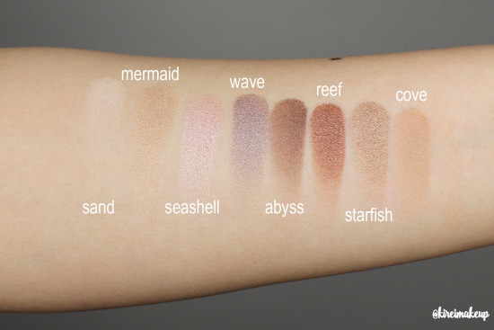 tarte rainforest of the sea palette swatches
