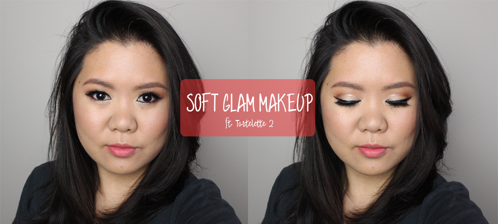 Soft Glam Makeup with Glitter Crease