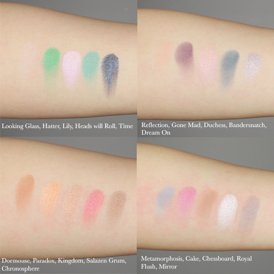 UD Alice Through the Looking Glass swatches