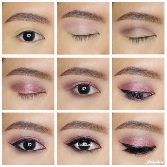 cranberry smoky eyes