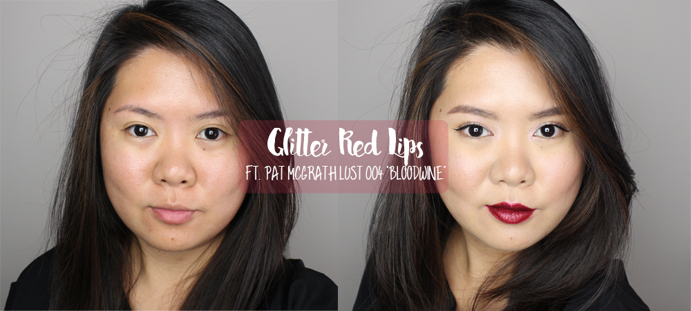 Pat McGrath Lust 004 Red Glitter Lips Tutorial