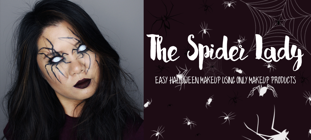 The Spider Lady – Easy Halloween Makeup