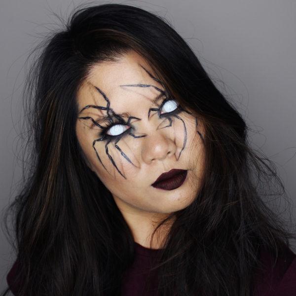 3d spider makeup