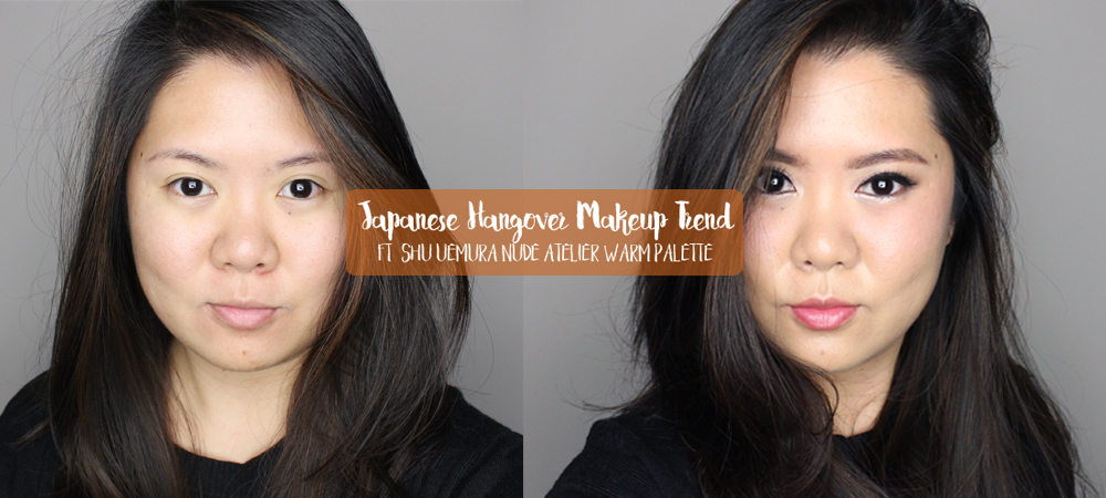 Japanese Hangover Makeup ft. Shu Uemura Nude Atelier Warm Palette