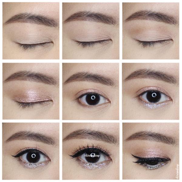 easy glitter makeup