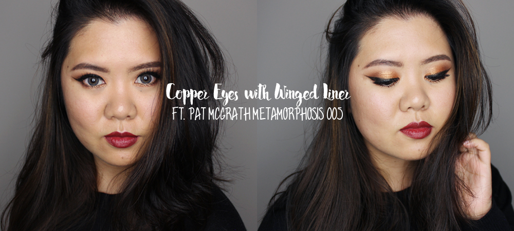 Copper Eyes & Dark Red Lips ft. Pat Mcgrath Metamorphosis 005
